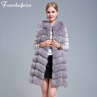 Natural Fur Coat For Jacket female coats Vest Natural Real Fox Fur Vest Waistcoat long Fur Coats Real Fur Coat Fox Vest Jacket