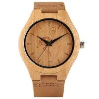 Natur Bambus Holz herren Armbanduhr Sport Männer Kran/Katze/Hund Zifferblatt Tmber Quarz Kreative Uhren Casual frauen Uhren