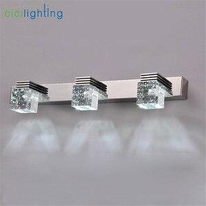 Image 4 - Светодиодный настенный светильник с кристаллами, зеркальный передний светильник, настенный светильник для ванной, современный настенный светильник для спальни, гостиной, Настенный бра, светильник
