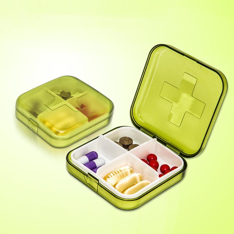 Lovely High Quality Mini 4 Slots Portable Medical Pill Box Drug Medicine Case Organizer New Dropshipping