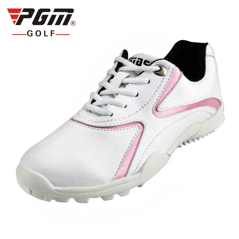 Pgm Women Soft Leather Golf Shoes Lacce Up Breathable Sneakers Outdoor Without Spikes Sports Training Shoes AA10095Pgm Women Soft Leather Golf Shoes Lacce Up Breathable Sneakers Outdoor Without Spikes Sports Training Shoes AA10095