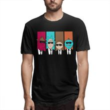 Picklr rick and morty T shirt Rickservoir Dogs Tee Unisex Vintage Camiseta Round Neck S-6XL T-shirt Birthday Gift T shirt t shirt casual cowboy bebop tee shirt unique design camiseta round collar s 6xl tee birthday gift t shirt 3d print