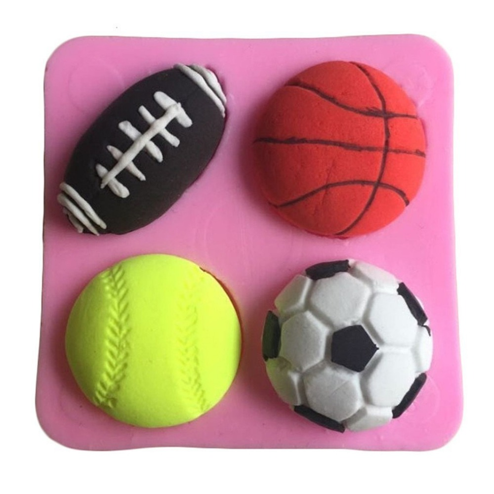1PC Tennisl Football Basketball Shape Silicone Mold Ice Cube Resin Craft DIY Pendant Mould Tools For Jewelry Making Decorating