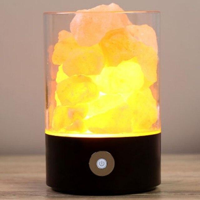 Himalayas Salt Crystal Rock Lamp Cube NATURAL Multi Color Ionizing Lamps  Creative Negative Ions Nightlight