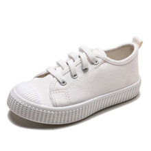2019New Canvas Sports Breathable Boys Children Shoes Brand Shoes Girls White Shoes Casual Children Canvas Shoes 2018 autumn children s white shoes leather shoes boys and girls casual shoes low to help sports shoes korean version