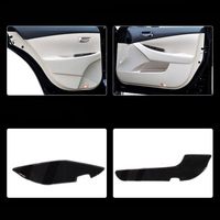 4pcs Fabric Door Protection Mats Anti kick Decorative Pads For Lexus ES 2006 2012