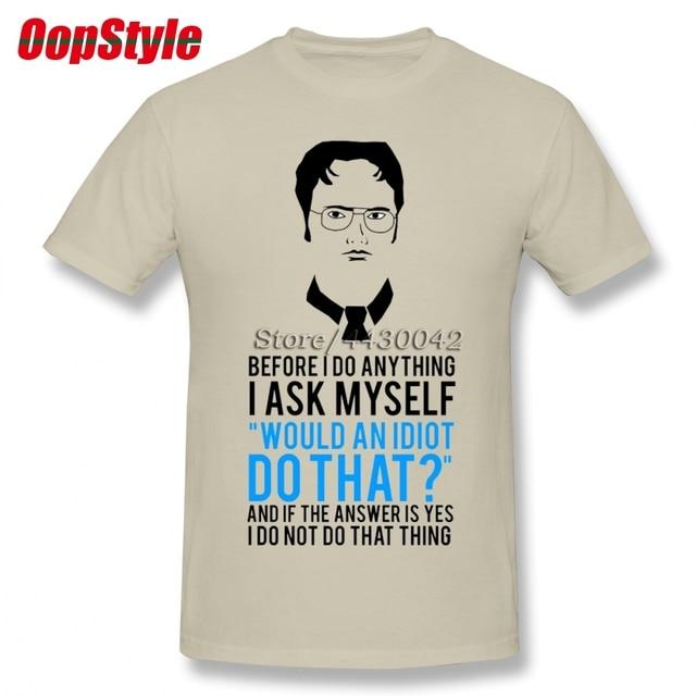 745409b3 The Office Dwight Schrute Tv Show T-shirt For Men Plus Size Cotton Team Tee  Shirt 4XL 5XL 6XL Camiseta