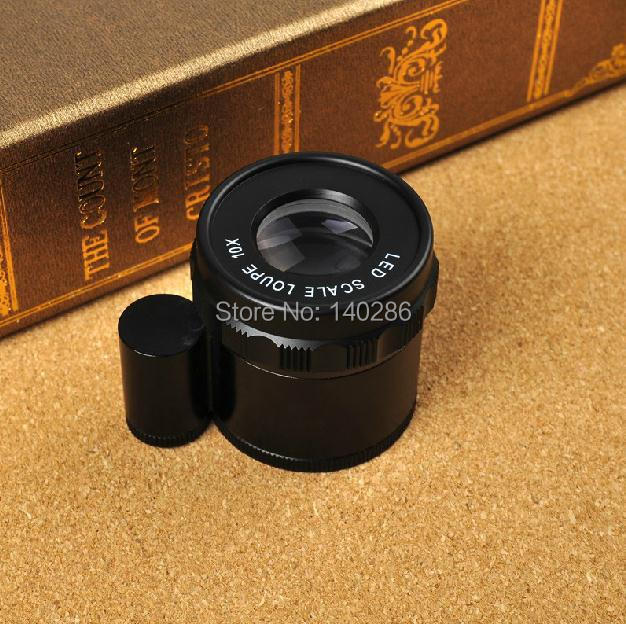10X Cylinder Adjustable With LED lights Graduation Magnifier Microscope Measure Check printing German-made