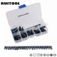 RUITOOL 28pcs Screwdrvier Bit Set 1 4 Extension Holder Bit Magnetic S2 Torx Hex Slotted Phillips
