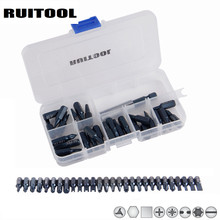 "RUITOOL 28pcs Screwdrvier Bit Set 1/4"" Extension Holder Bit Magnetic S2 Torx Hex Slotted Phillips Spanner Hand tool Set(China)"