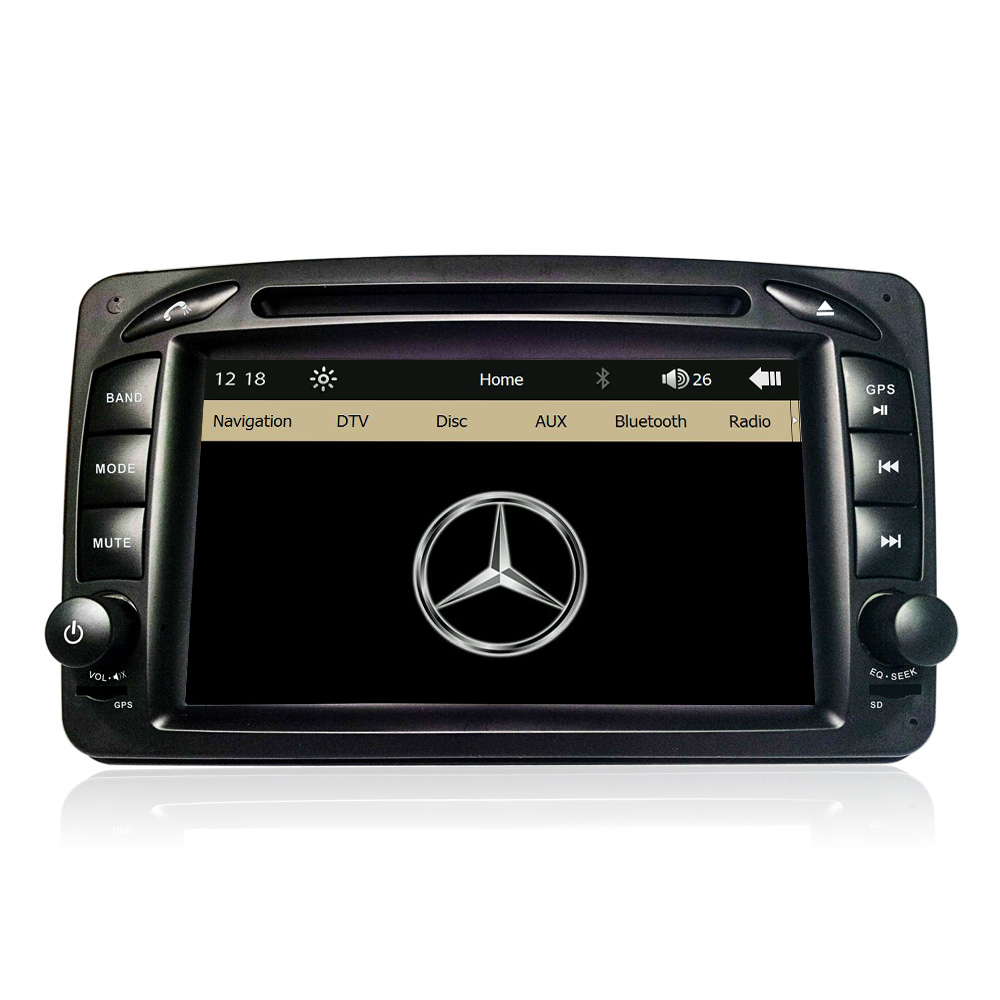 7 Capacitive Screen Original UI Car DVD GPS Player For Mercedes Benz W203 W208 W209 W210