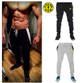 Nuevo 2016 Pantalones de Fitness GASP Golds Hombres Fuera de la puerta de Moda Pantalones de Chándal Holgados Joggers Pantalones Flacos Ocasionales Equipado Bottoms