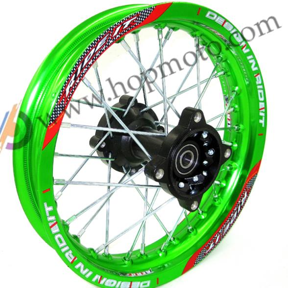 "Зеленые диски 1,85x12 ""для запасных частей KTM CRF Kayo BSE Apollo Rear Wheels"