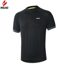 ARSUXEO  Quick Dry Cycling Jersey Ropa Ciclismo Breathble Short Sleeve Clothing Bicycle Sportswear