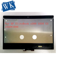 13.3 inch LCD For HP EliteBook x360 1030 G3 13.3 LED Touchscreen FHD 1080P M133NVF3 R1 2 in 1 Notebook LCD Screen