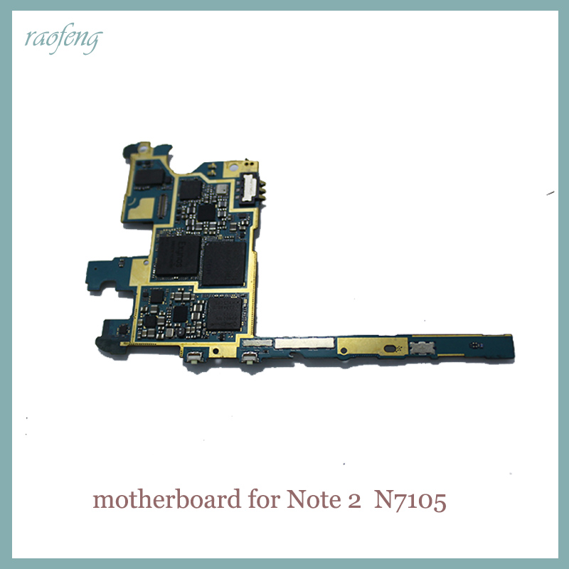 Good working  Motherboard For Samsung Galaxy Note 2 N7105 original  Unlocked mainboard  with chips logic noard(China)