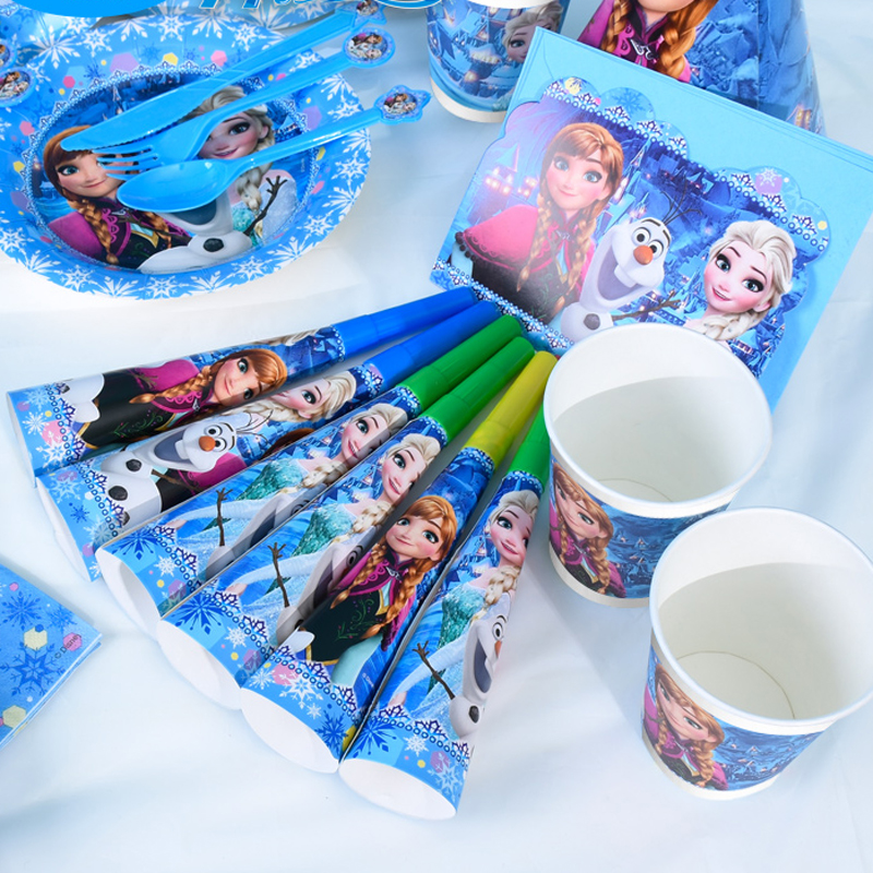 Disney Frozen princess Theme Tableware Party Decoration For Children Boys Girls Event Birthday Party Supplies Wedding Favors-in Disposable Party Tableware ...  sc 1 st  AliExpress.com & Disney Frozen princess Theme Tableware Party Decoration For Children ...