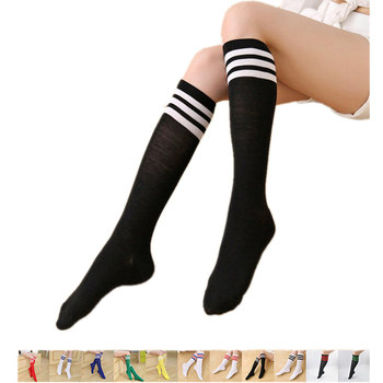 Striped Knee High Socks for Women