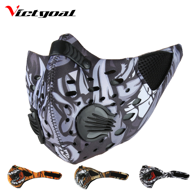 VICTGOAL Windproof Sports Cycling Mask Winter Anti-Dust Mouth-Muffle Mask Running Skiing Anti-Pollution Masks Bicycle Face Mask outdoor cycling half face mask dust windproof anti pollen allergy activated carbon masks filter sports riding running lcc