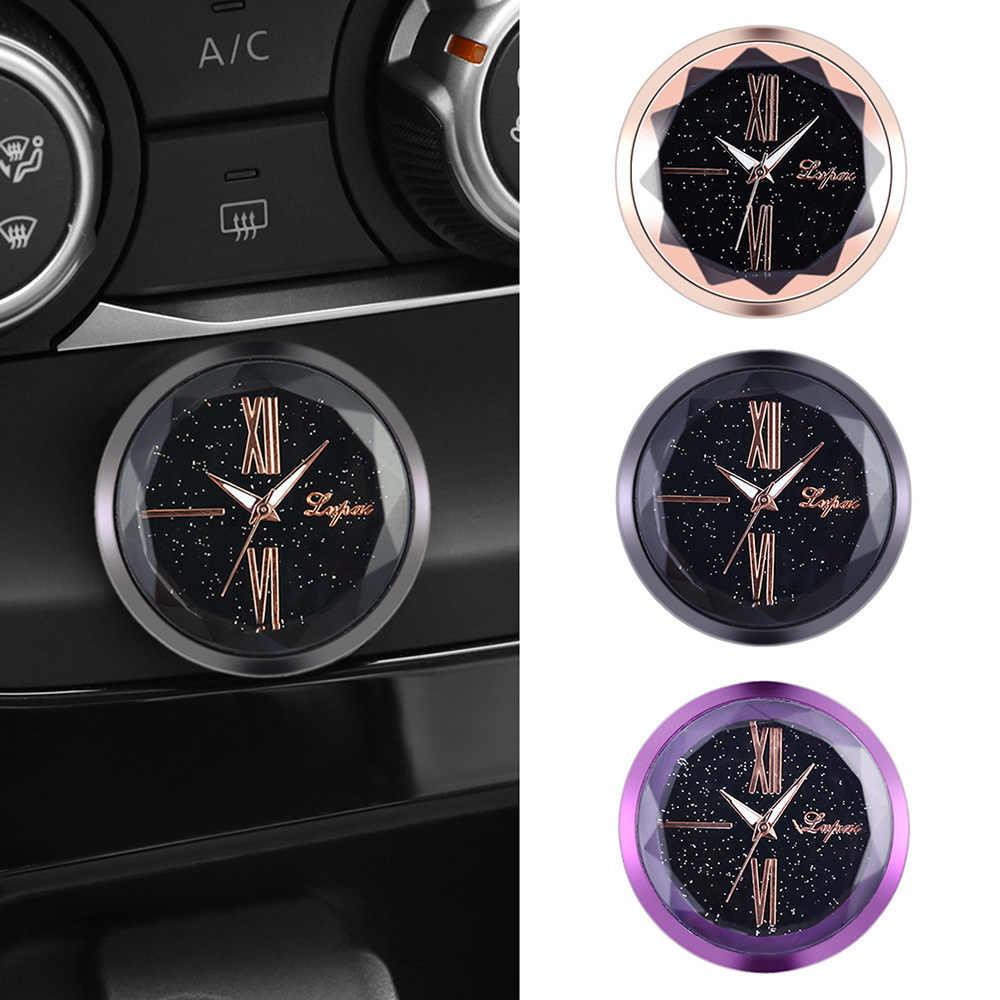 1 Pcs Novo Estilo Do Carro Decoração Eletrônico Medidor Eletrônico Relógio Relógio com Pegajosa Dashboard Ornamento Interior Automotivo