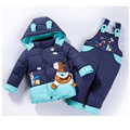 baby Children boys girls winter warm down jacket suit set thick coat+jumpsuit baby clothes set kids jacket animal Horse fish