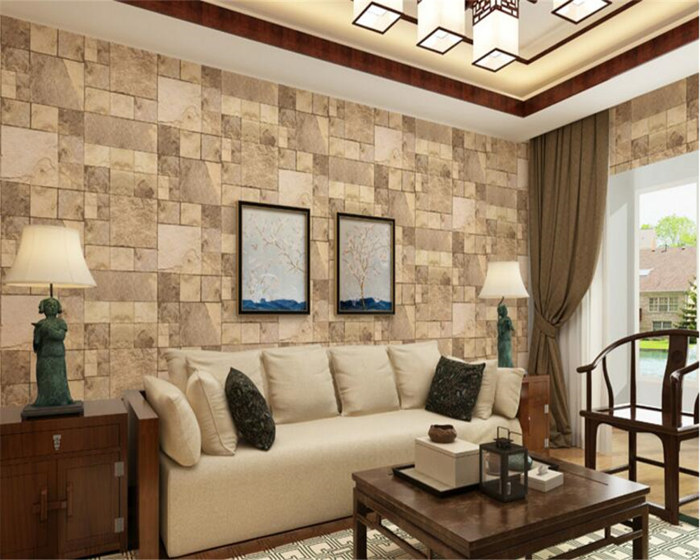beibehang papel de parede New Chinese Classic Brick 3d Wallpaper mottled retro washable PVC living room background wall paper beibehang europea vinyl thickening white brick wallpaper for wall rustic tv background brick wall paper rolls papel de parede 3d