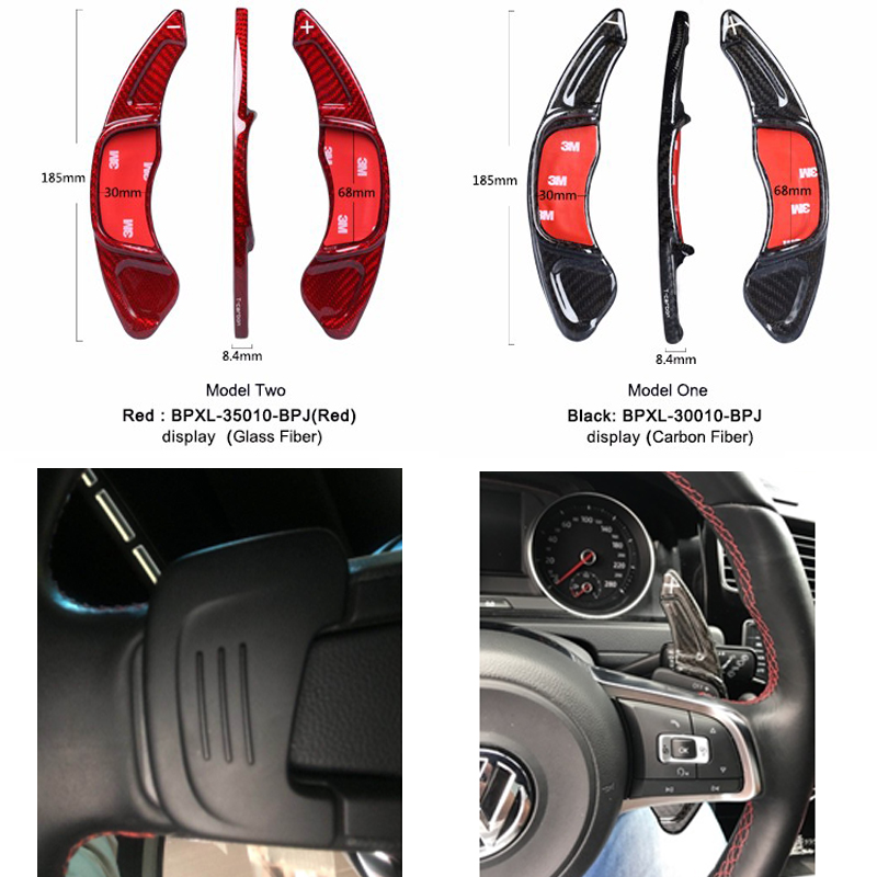 Real <font><b>Carbon</b></font> Fiber <font><b>Steering</b></font> <font><b>Wheel</b></font> Shift Paddle Shift for Volkswagen <font><b>GOLF</b></font> <font><b>7</b></font> MK7 Scirocco Car Styling image