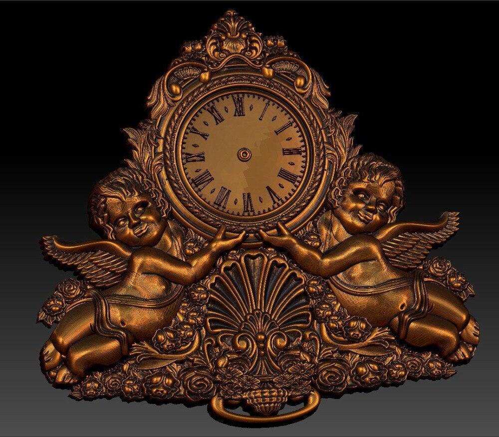 Digital File In STL Format Clock For CNC 3D Relief Carving Engraving C36-2