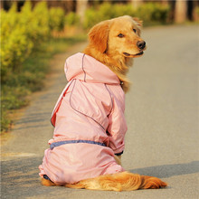 Super waterproof pet rain clothes Tactic VIP puppy golden border large dogs can Kasamoye legs
