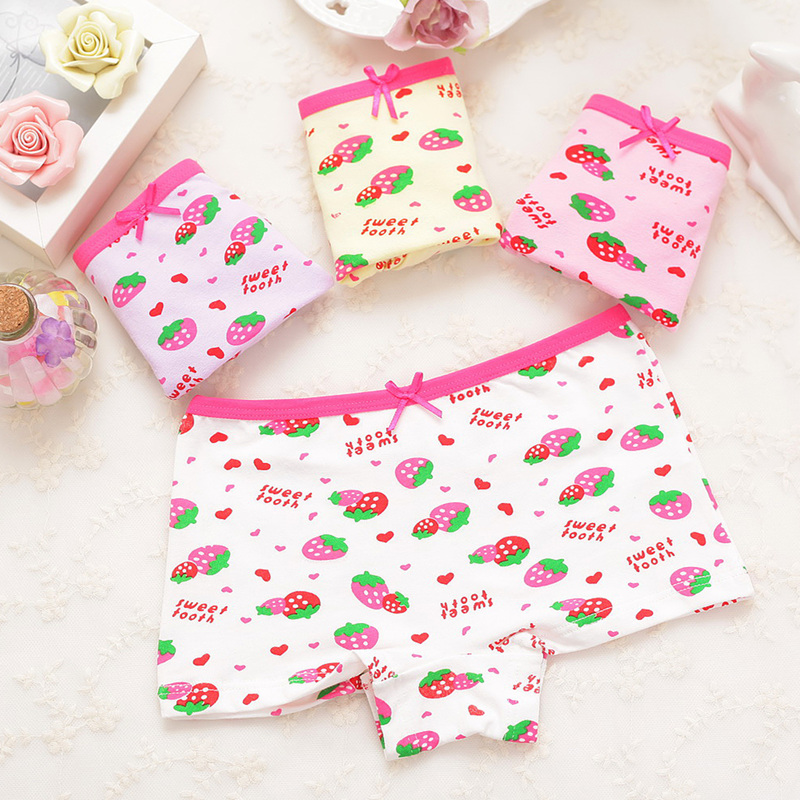 Children Briefs Girls Panties Underwear Kids New Cartoon Cat Style Panties Kids Boxers Clothing 1 Piece