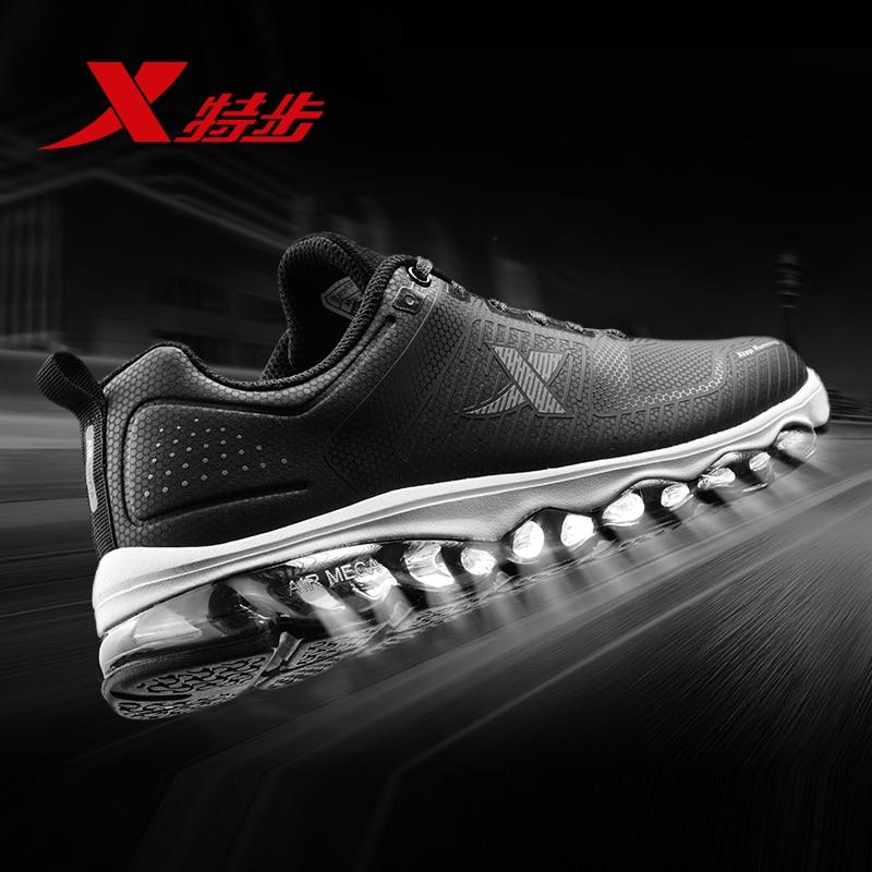 Xtep Air Mega Fashion Men's Running Shoes Men Waterproof PU Metarial Sport Sneakers Air Cushion Sportshoe Male 983419119097