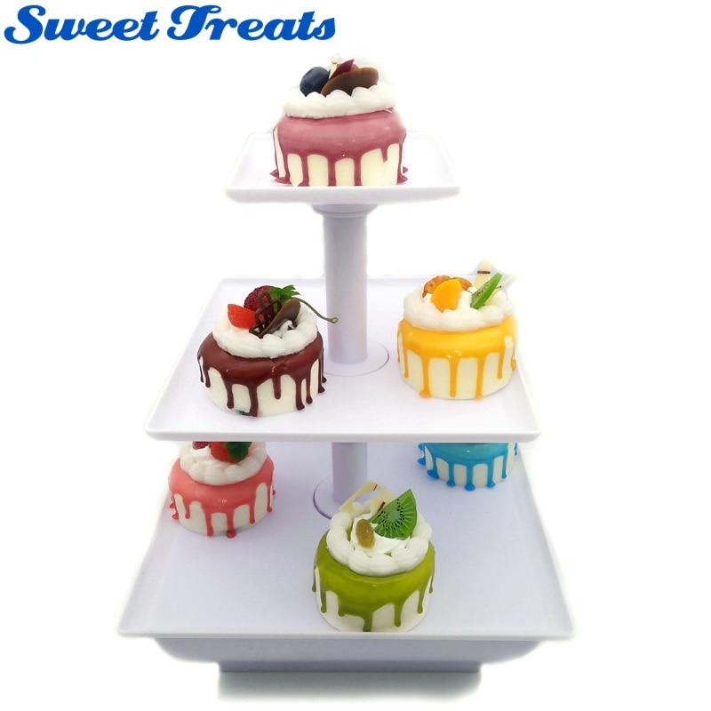 Sweettreats Three Tier Server Station - Dessert Tray - Cupcake Stand - Food Display