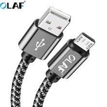 OLAF 3M Micro USB Cable 2.4A Fast Charger Data Mobile Phone Charging for Samsung Xiaomi Huawei Sony Tablet