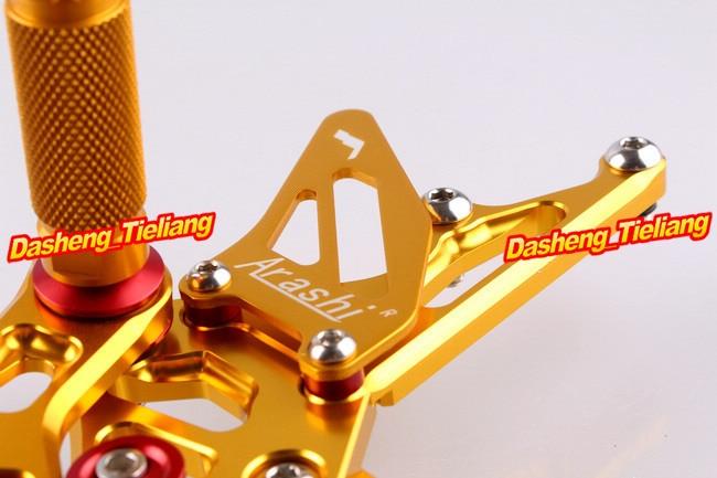 CNC Rearset задний Набор подножки для Kawasaki Ninja ZX10R 2004 2005 алюминиевый сплав золото 04 05, регулируемый