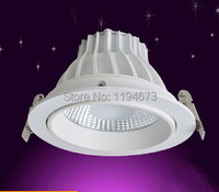 10x High Quality Dimmable Led Downlight Cob 15W D120xH72mm LED Spot Light Led Ceiling Lamp Free