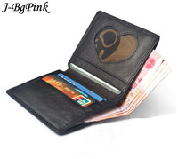 2017 Leather Credit Card Wallet Cowhide ID Card Bag Bank Card Holder Business Small Wallet Brand