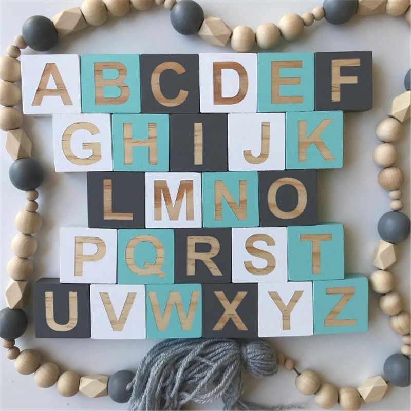 Деревянные буквы цифры блок украшения DIY буквы алфавита для творчества для свадьбы Детские обучающие игрушки новорожденный подарок на память фотосессия Декор