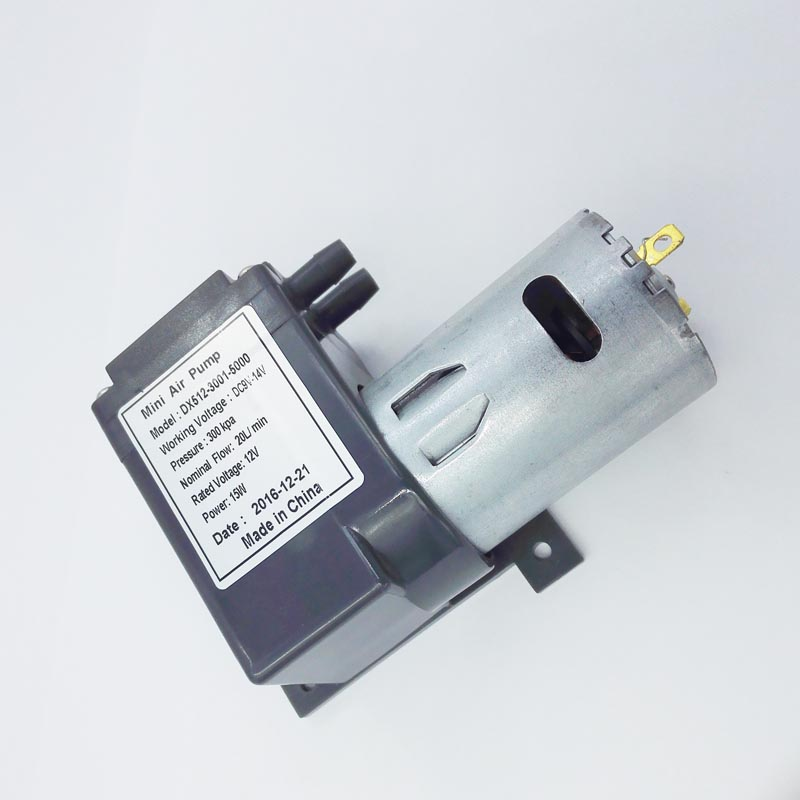300kpa Pressure 20L/M Flow Rate Dc Diaphragm Mini Compressor
