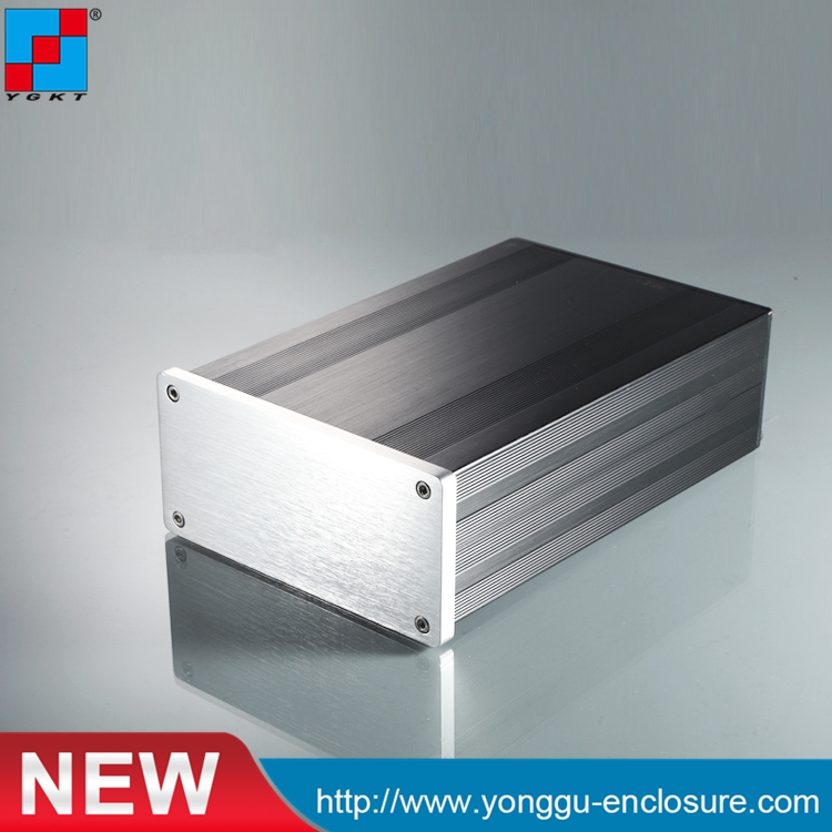 145*68-220 mm DIY HIFI OEM Custom Aluminium Extruded Electronic Enclosure metal box enclosure/aluminium box diy aluminium housing metal electronics box diy aluminum enclosure ygs 036 96 45 5 140mm wxh d