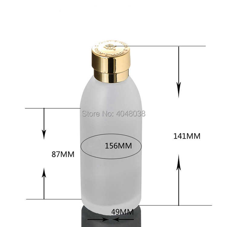 Refillable Cosmetic Container Frosted Glass Toner Bottle with Inner Plug Empty Portable Makeup Astringent Refillable 120ML 5 PCS (3)