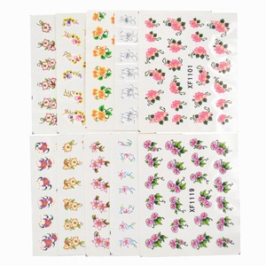 Image 3 - 60 Sheets Flowers Designs Water Transfer Nail Sticker, Watermark Nail Stickers Temporary Tattoos Manicure Beauty Tools