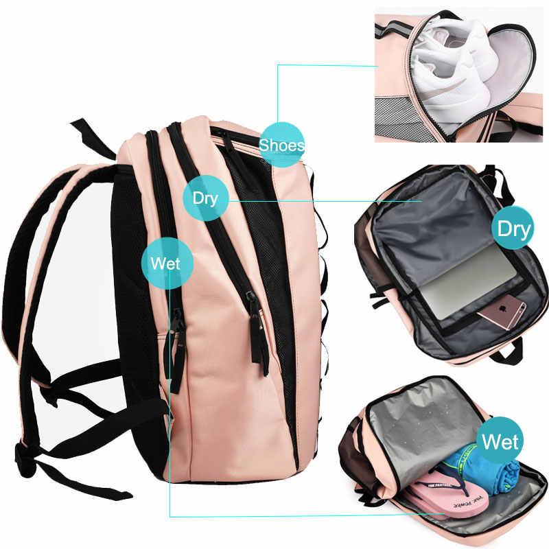Сумка для тренажерного зала фитнеса рюкзак для йоги тренировочные спортивные сумки Gymtas для женщин Sac De спорта тенниса бадминтон сухой влажный рюкзак XA636WA