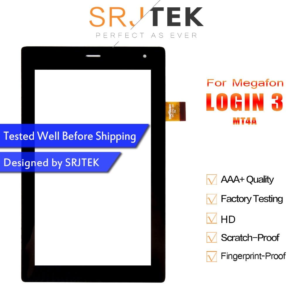 Srjtek Touch Screen Panel Digitizer For Megafon Login 3 MT4A Login3 MFLogin3T Tablet TPC1463 VER5.0 FL FL-070-290 TPT-070-360