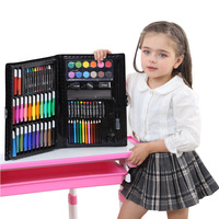 108pcs Drawing Art Set Children Marker Watercolor Pen Crayon For Kids Gift Box Art Painting Supplies