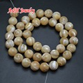 High Quality Yellow Color Natural Trochidae 6~10mm Round Beads 16'' Fashion Jewelry Making Materials 5strand/lot