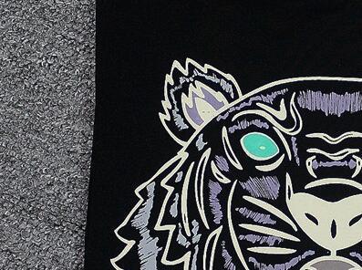 Esponja mouses cor 21 Novas Mulheres Marca de Moda Verão Homens T shirt da Cópia Do Tigre de Manga Curta Camisas Dos Homens t de Algodão camisas