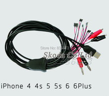 Free shipping 10pcs /set power supply line for Iphone 4/4S/5/5C/5S/6/6plus repair maintain power cable