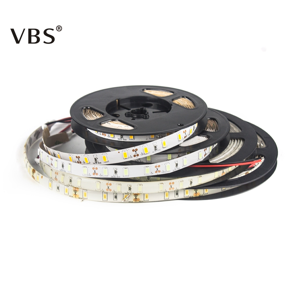 2018 New SMD 5730 LED Strip Waterproof 5M/Lot 60 LED DC 12VWhite /Warmwhite Flexible LED Light Strips Party HomeLivingroom decor