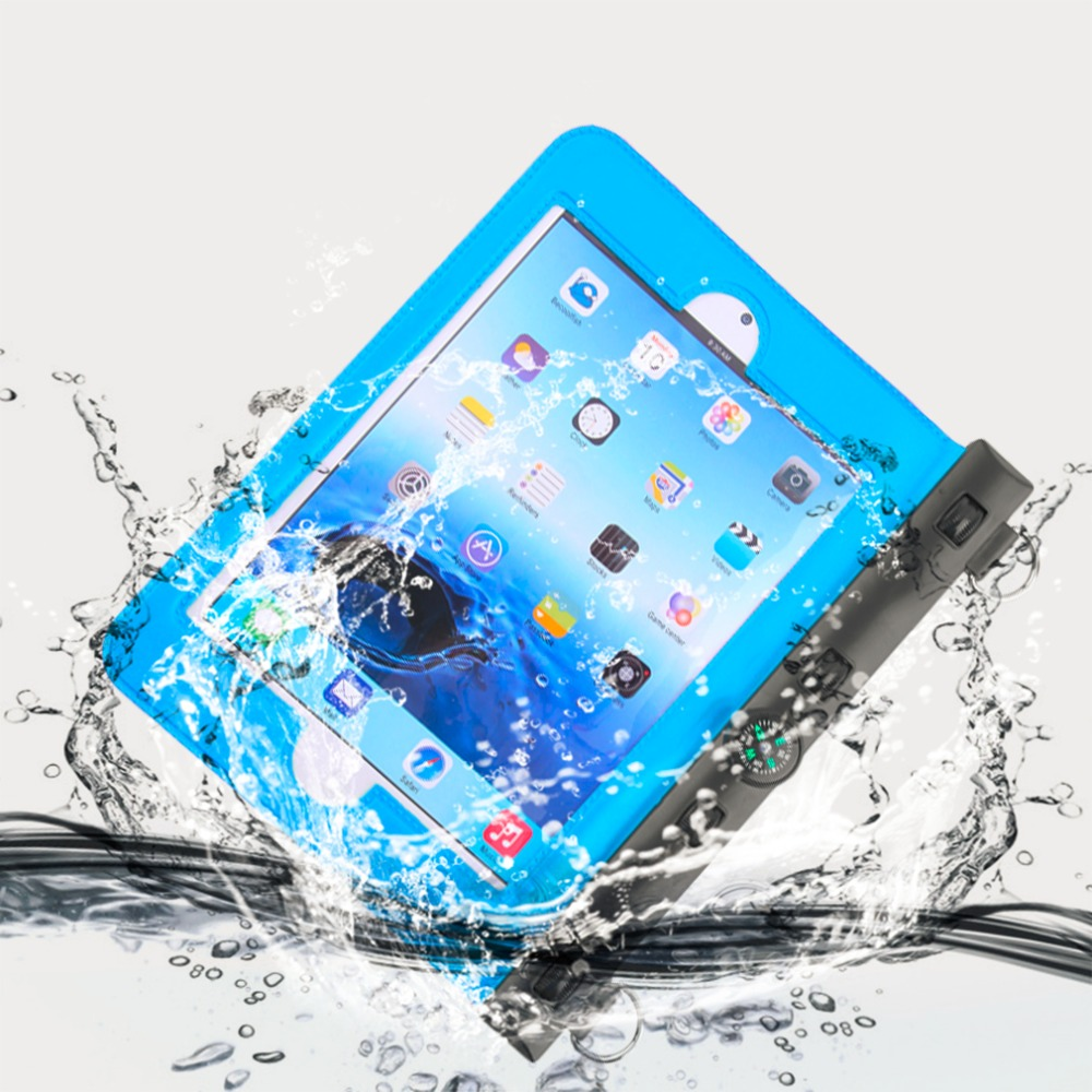 In Stock! Waterproof Dry Bag Blue Underwater Pouch Case Cover For Mini Ipad With Campass Hot sell