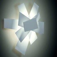 Новый скандинавский Черный/Красный Железный Современный дизайнерский настенный светильник европейские настенные лампы для ванной светил